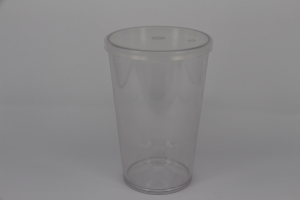 plastic tumbler with straw 15oz Tumbler