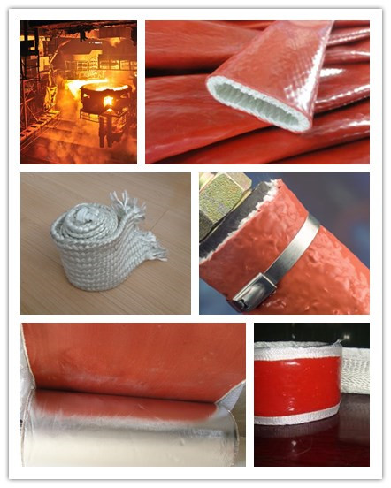 fire sleeve for hydraulic hose