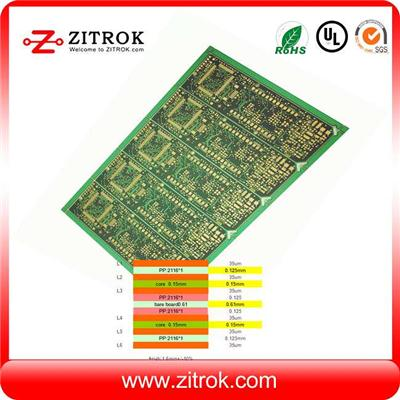 Impedance Control TG140 6Layer ENIG Board