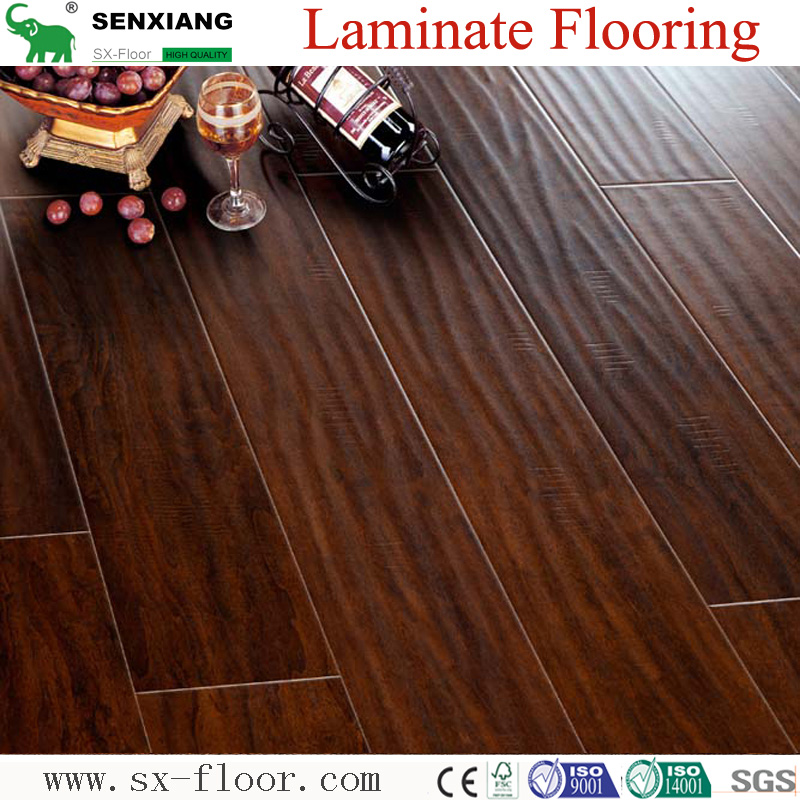Wood Texture Handscraped Laminated Wood Flooring