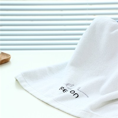 White Antibacterial Cotton Hand Towel Terry