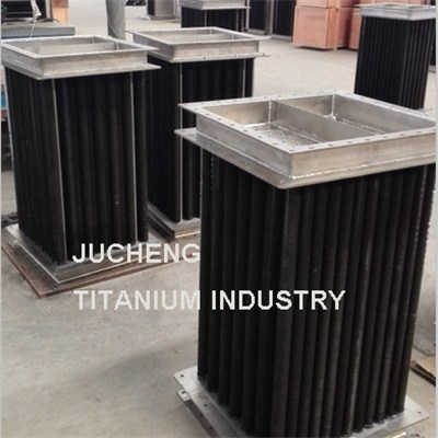 Air Or Gas Cooling Titanium Finned Tube Heat Exchanger