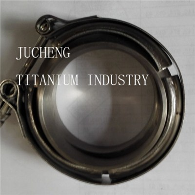 Titanium Flanges With V Band Clamp Set 2.5 V Band Titanium Flange