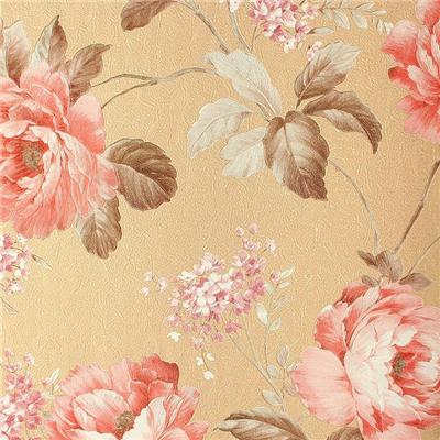 Deep Embossed Floral Wallpaper