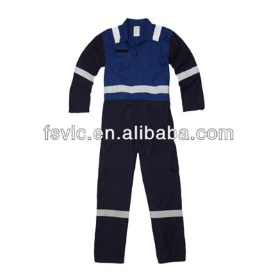 Modacrylic Flame Retardant Coverall With Reflective Tapes