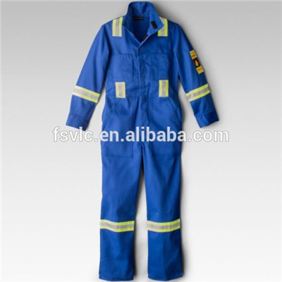 Aramid Flame Retardant Coverall With Reflective Tapes
