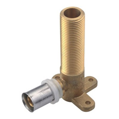 Brass Crimp Fitting Backplate Male Elbow