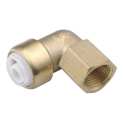 Brass Push-fit Fitting Female Elbow