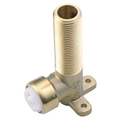 Brass Push-fit Fitting Backplate Male Elbow