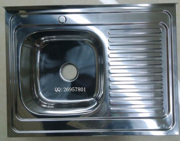 China Factory Suppy Stainless Steel Kitchen Sink WY-8060NEW