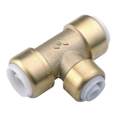 Brass Push-fit Fitting Equal Tee
