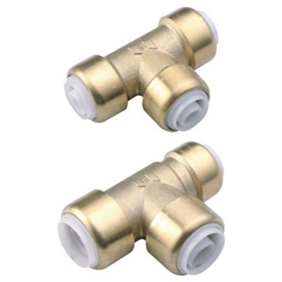 Brass Push-fit Fitting Reduce Tee