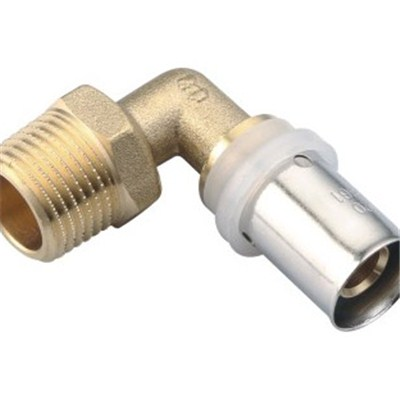 Brass Crimp Fitting Male Elbow