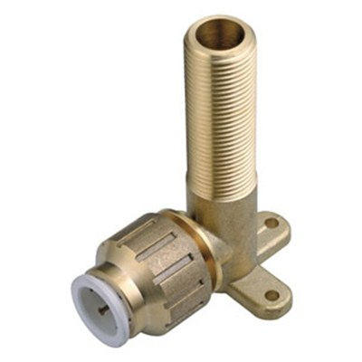 Brass Speedfit Fitting Backplate Male Elbow