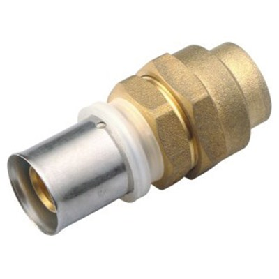 Brass Crimp Flared Copper Compression Union