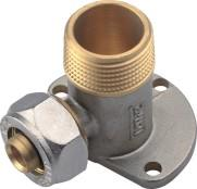 Brass Compression Fitting Backplate Female Tee Elbow