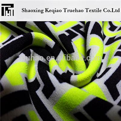 Printed Poly Spandex Fabric