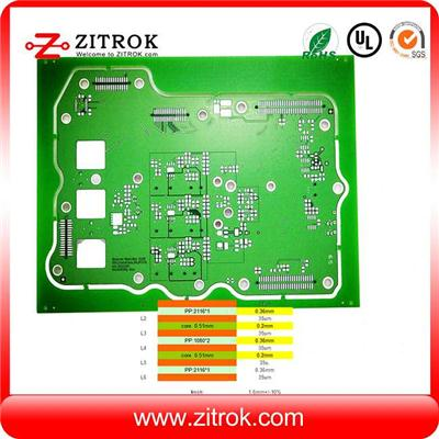 Immersion Tin Matte Green 6L Multilayer Circuit Board