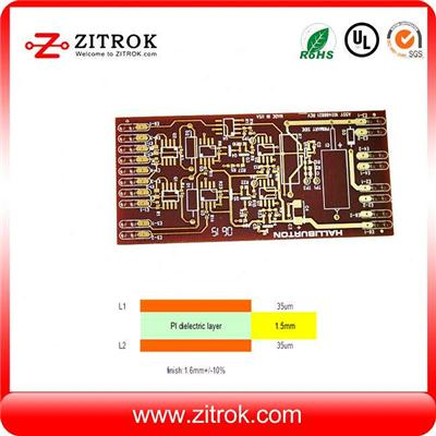 Flexible Polyimide PI TG250 Immersion Gold Special Material PCB Board