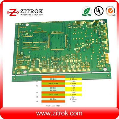 6layer 1oz Finished Outer Layer Copper Weight PCB
