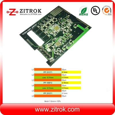 Multilayer 6Layer Immersion Gold Circuit Board