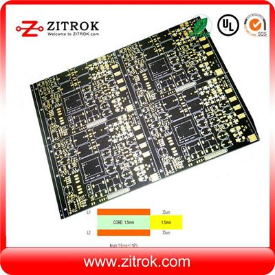2 Layers Immersion Gold Black Soldermask Board
