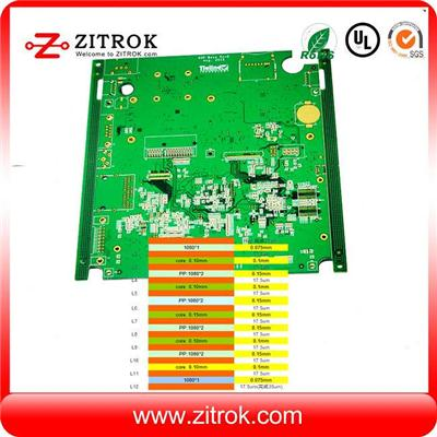 12Layer Impedance Control Immersion Gold Multilayer PCB