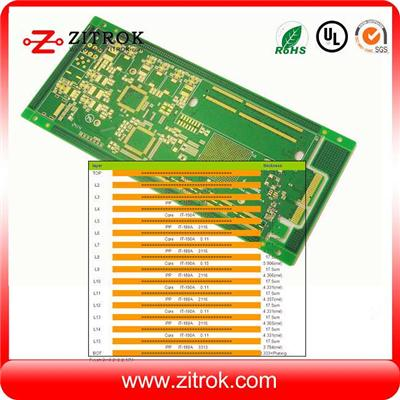 16Layer 2.0mm TG170 Immersion Gold FR4 PCB Board