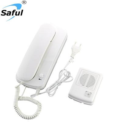 Saful TS-3207 Wired Audio Intercom, Can Add E-lock
