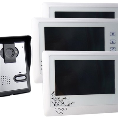 Saful TS-YP819MA 7 Inch Color Screen Wired Video Door Phone System Home Intercom Doorbell With 3 Monitors