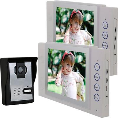 TS-YP815MA12 8'' Color LCD Screen Wired Video Doorbell Intercom System With Camera For Home Door Phone Kit (2 Indoor Monitors)