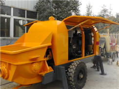 HBLS50-13-92R Big Power Mobile Concrete / Oil Pump