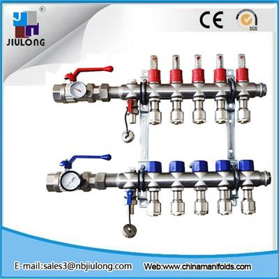 Stainless Steel Bamboo Joint Manifold With Long Flowmeter