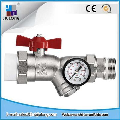 Ball Valve With Temperature Meter