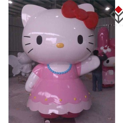 Hello Kitty Pink Animation Fiberglass Statue