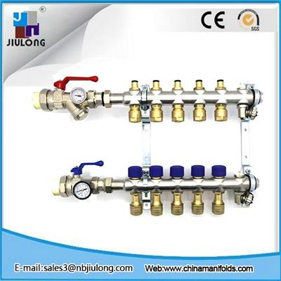 Stainless Steel Bamboo Joint Manifold With Built-In Slow Open Spool