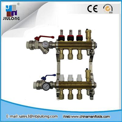 Hot Extrusion Brass Manifold With Long Flowmeter