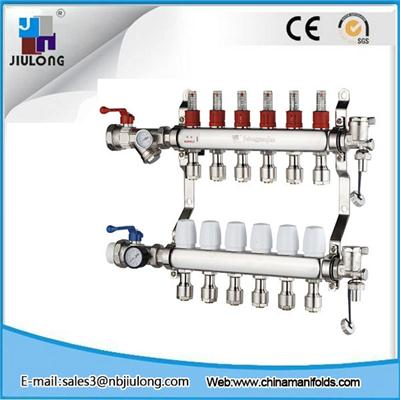 Stainless Steel Manifold With Long Flowmeter
