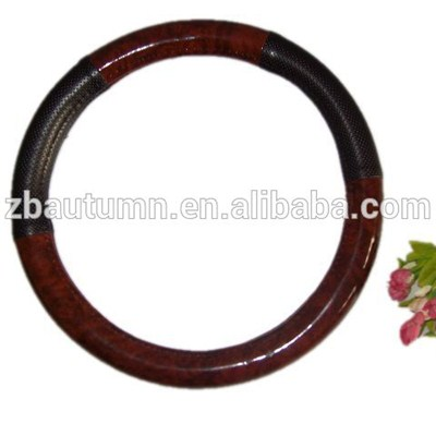 PU Wooden Grain Steering Wheel Cover