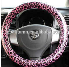 PU Leopard Grain Steering Wheel Cover