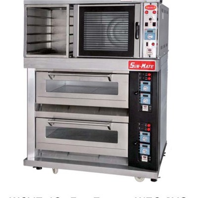 WCVE-4C+Pan Frame+WEC-2YG(electric Convection Oven+pan Frame+electric Deck Oven)