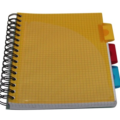 Color PP Spiral Book