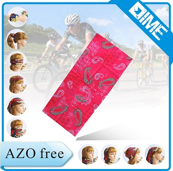 Cheap Custom Bandana Printing Motorcycle Mask Seamless Tube Bandana