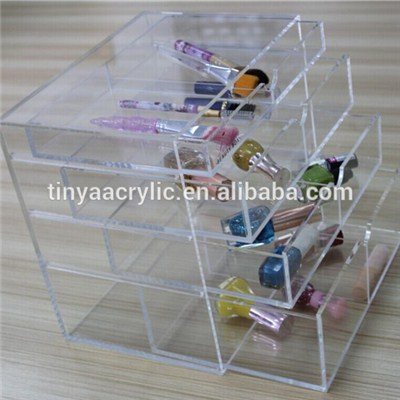Lucite Cosmetic Container
