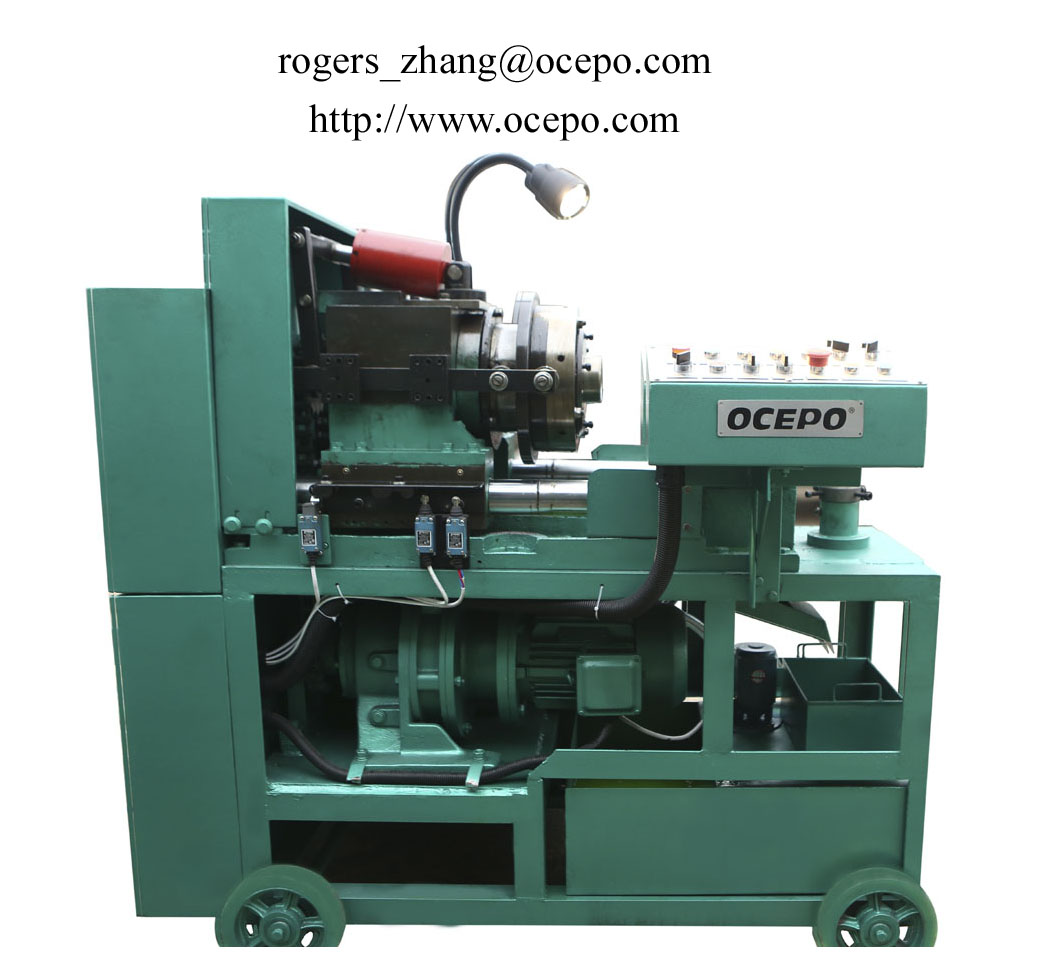 Full-automatic rebar thread cutting machine