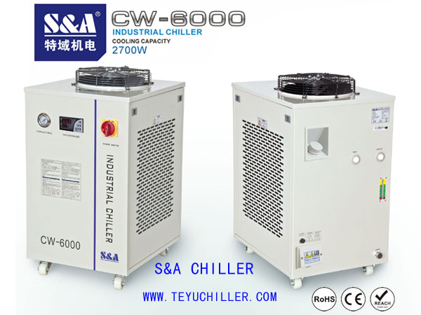 Air cooled closed loop water chiller with 3kw capacity