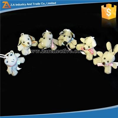 Multi Designs Reflective Toy Keychain For Holiday Promotion
