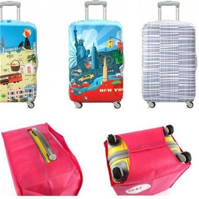 Elastic Suitcase Cover Printed Spandex Luggage Cover