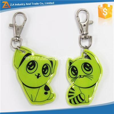 Custom Logo Promotional Soft PVC Reflective Keychain For Bag