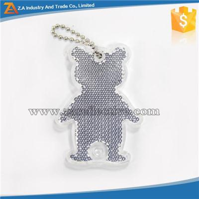 High Visibility PMMA Reflector Keychain Decorations